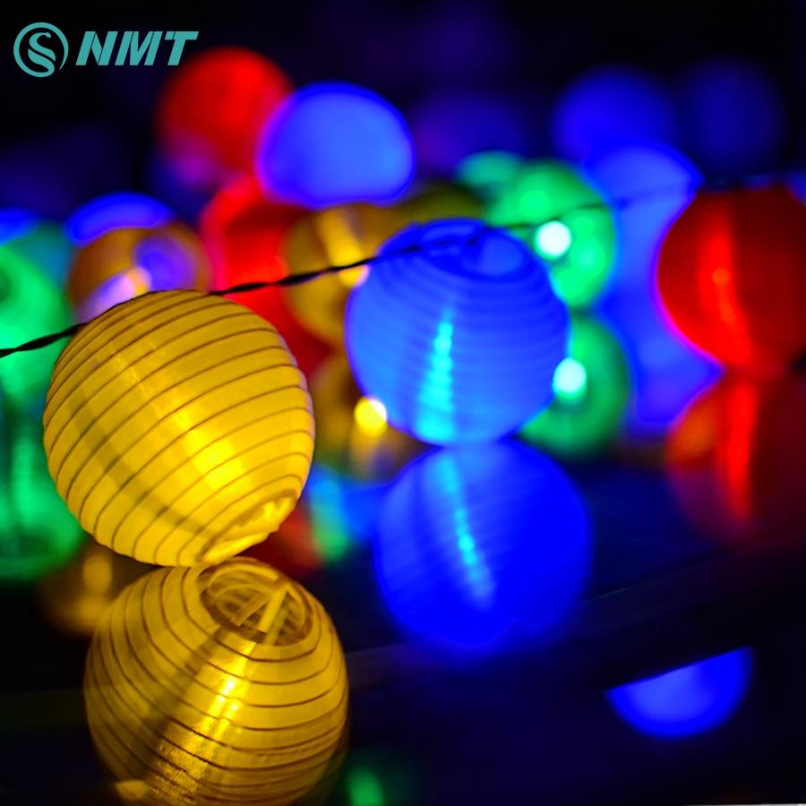 Lantern Ball Solar LED Stränglampor 20 LED Solar Lamp - Festlig belysning - Foto 1