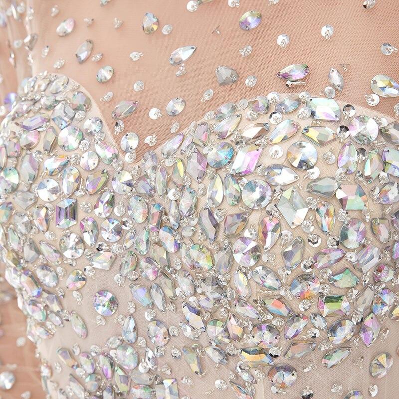 LORIE Kristaller ile Lüks Balo Elbise Akşam Elbise Mermaid Uzun - Özel Günler Için Elbise - Fotoğraf 4