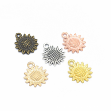 20Pcs Vintage Sunflower Charms Pendant Alloy Mini Flowers for DIY Bracelet Necklace Earring Making Handmade Jewelry