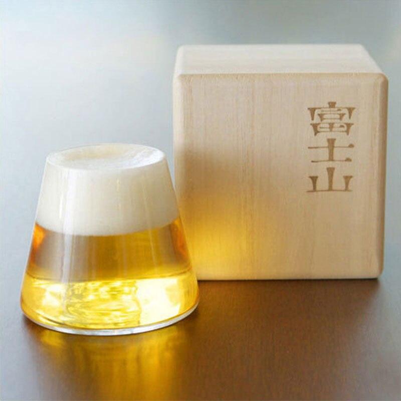 1 pièces 280 ml Mt Fuji vin Verre tasse jus boisson eau Verre whisky boisson bière tasse anniversaire cadeau Bar boire verrerie ensemble