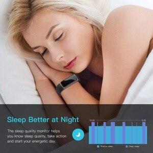 Image 4 - Letike reloj inteligente GT101 para hombre y mujer, pulsera con control del ritmo cardíaco y del sueño en tiempo real, color rosa