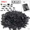 500pcs Military Series Guns Weapons For Minifigures SWAT CITY Police Army Assemble Building Blocks Kids Education