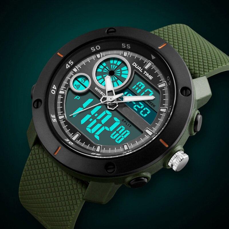 100 M Wasserdicht Männer Sport Uhren Schwimmen Multifunktio Military Armbanduhren Große Relogio Masculino Hodinky Modische Und Attraktive Pakete