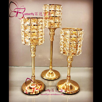 3Pcs/set Decorative Crystal Votive Tealight Candle Holders for Wedding Table Centerpieces candelabra