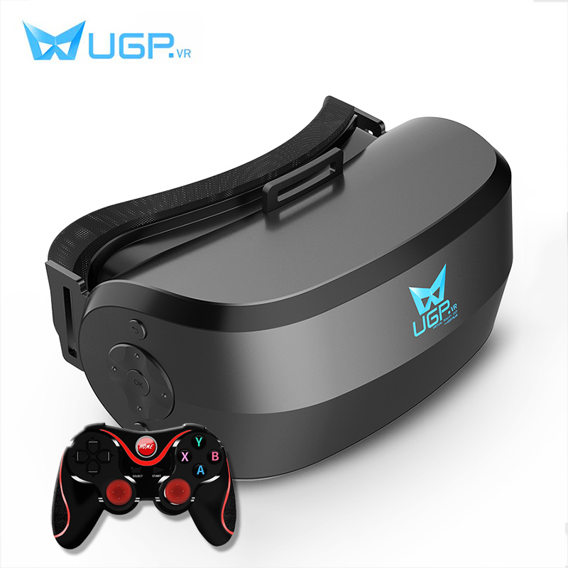 UGP 5.5 inch All In One VR Glasses 1080P Eight Core With Remote Control Virtual Reality 3D VR Headset For 3D Games Video
