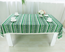 Table Cloth Retro Ethnic Triangle Style High Quality Lace Edge Universal Tablecloth Decorative Table Cover Hot Sale