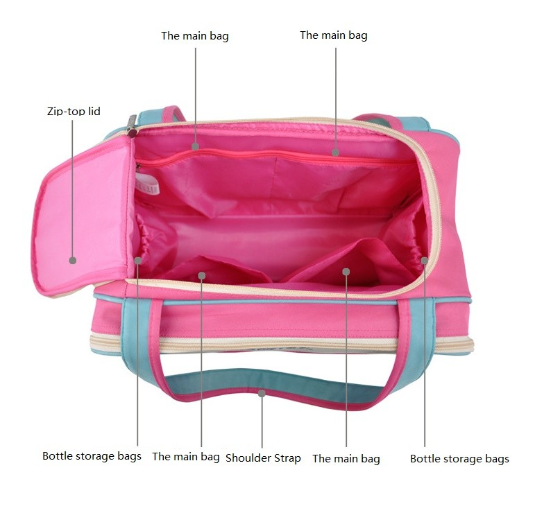 insular Colorful stripe diaper bag multifunctional waterproof baby care nappy mummy bag mother Shoulder Tote stroller bags 10