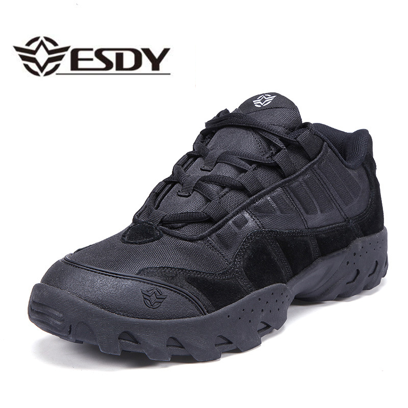 2016 Esdy Outdoor Low Cut Ankle shoes Desert Tactical Military Combat Boots Army Boots Shoes Botas Men Work Hiking Boots