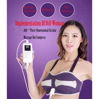 2016 Far infrared Breast Enlargement Health Care Beauty Enhancer Grow Bigger Vibrating Massage Bra & Breast Massager Device