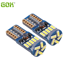 100Pcs T10 Led Canbus T10 15led 4014 Smd Led Geen Obc Fout 194 168 W5W T10 15smd Canbus Niet polariteit Led Wedge Lamp Auto Styling