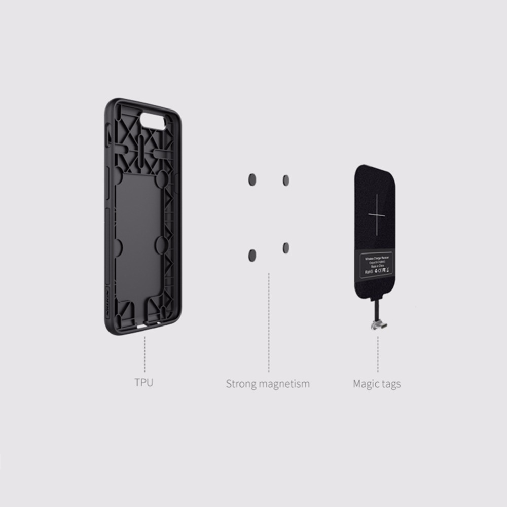 Image 4 - NILLKIN Magnetic wireless receiver case and qi wireless charger pad Portable For one plus 5 oneplus 5 cover For xiaomi mi6 cover-in Mobile Phone Chargers from Cellphones & Telecommunications