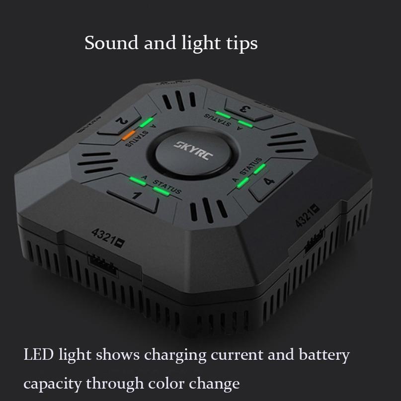 E4Q DC Multi Balance chargeur 4 ports 2 S 3 S 4 S LiPo batterie chargeur intelligent avec connecteur XT60 indicateur LED 2A/3A/5A courant
