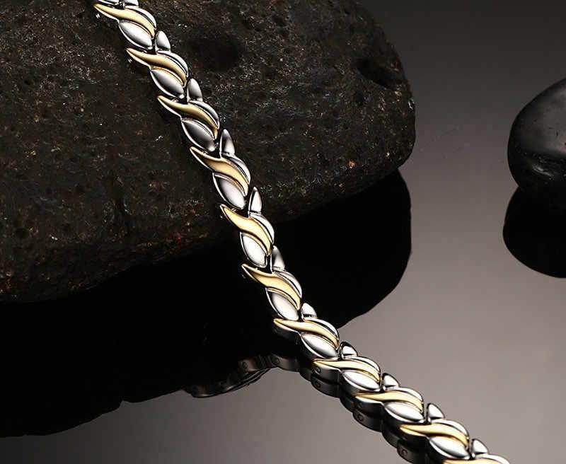 ZORCVENS модные оздоравливающий магнитный браслет для женщин Нержавеющаясталь магнит германий лечебный браслет цепочка на руку