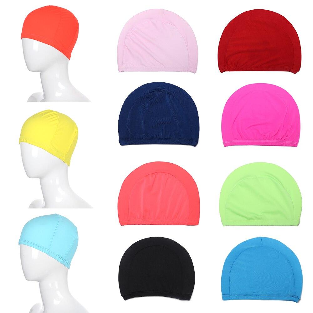 Durable Unisex Adult Swimming Cap Waterproof Protect Long Hair//Ear Swim Hat HOT