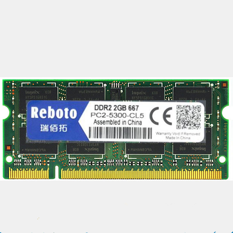 Reboto DDR2 1GB 2GB 4GB 667Mhz 800mhz PC2-5300 6400 memory for Laptop RAM good quality Fully compatible