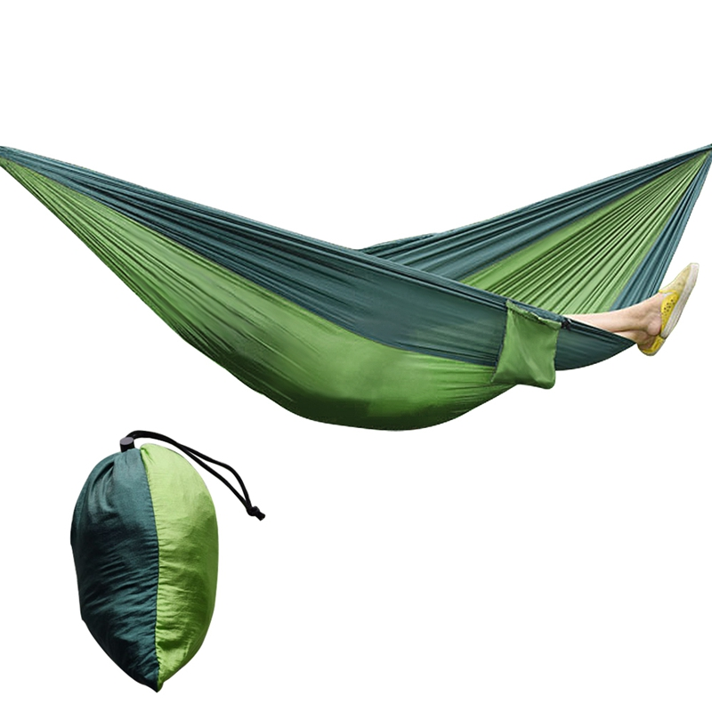 Portable Nylon Single Or Double Person Hammock Parachute Parachute Fabric Hammock For Travel Hiking Backpacking Camping Hammock wholesale portable nylon parachute double hammock garden outdoor camping travel survival hammock sleeping bed for 2 person