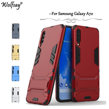 For Samsung Galaxy A70 Case Luxury Slim Armor Rubber Hard Phone Back Cover Fundas *