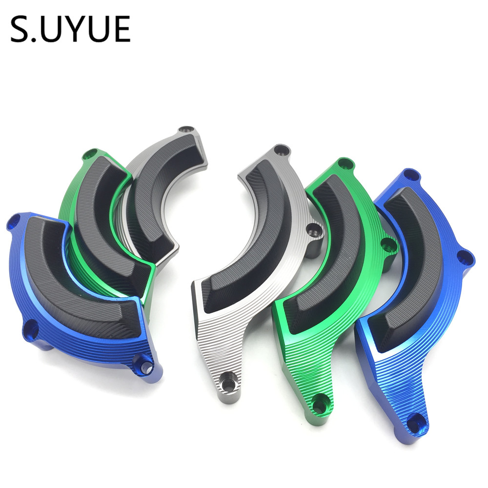 S.UYUE CNC Aluminum Right Engine Case Guard Cover Engine Crash Frame Protector Slider Falling Protection For Kawasaki Z900 2017