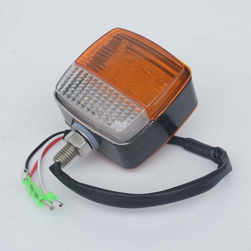Forklift Front Turn Signal Light 85MM Double <font><b>LED</b></font> Side Lamp White Yellow Warning Lamp <font><b>12</b></font>-<font><b>80V</b></font> image