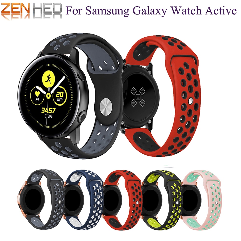 2019 Newest Sports Silicone Replacement Band Strap for Samsung Galaxy Watch active / Galaxy Watch 42mm Bracelet Strap WatchBand new garmin watch 2019