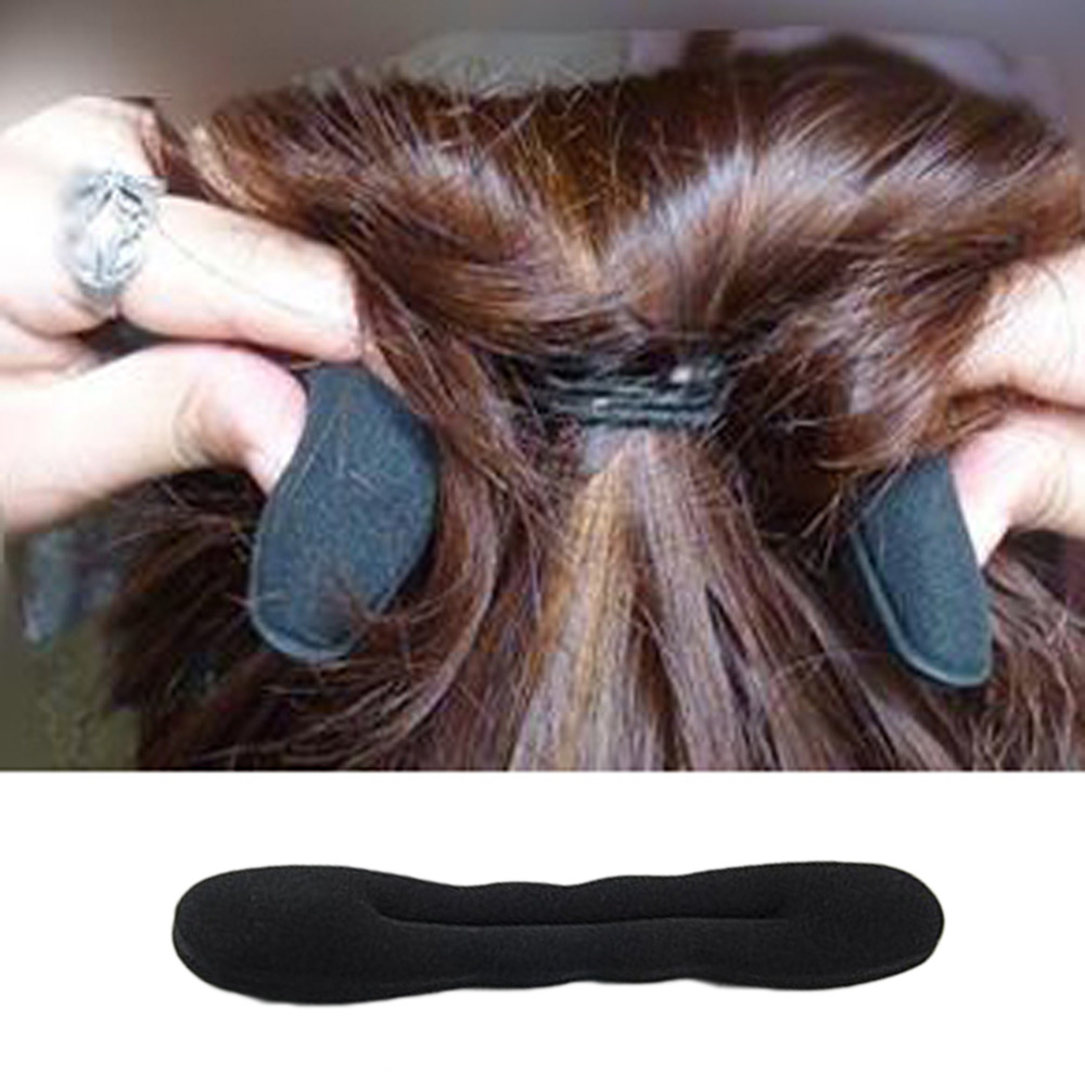 1pc 2018 Magic Hair Styling Hair Ring Hairpins Hair disk Meatball Head hair accessories for women Black DIY Sponge headbands