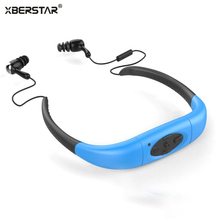 2017 Version 4GB Waterproof  IPX8  Sports MP3 Player Neckband FM Radio Swimming Surfing Running MP3 with Earphones Underwater