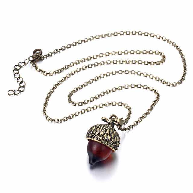 Acorn Shaped Pendant Necklace