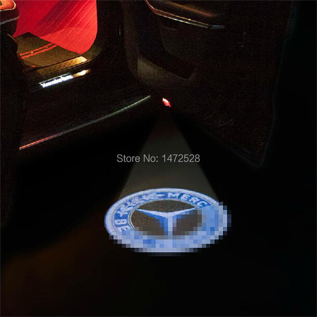 1 Pcs Diy Car Styling New Abs Chrome Projection Door Welcome Light For Benz Gl