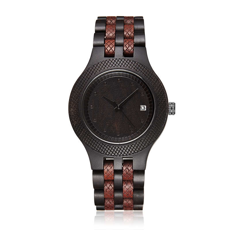 Mens Wood Watch Retro Wooden Wristwatch Roman Number Dial Watches Luxury Natural Rosewood Date Quartz Men Male Clock for Gift simple minimalism casual men quartz wristwatch number dial genuine leather band cost effective natural wooden design male watch