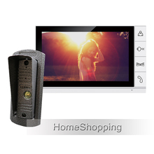 New Wired 9″ Color Screen Video Door phone Intercom System With 1 Monitor + 1 Wateproof Door bell Camera In Stock Free Shipping