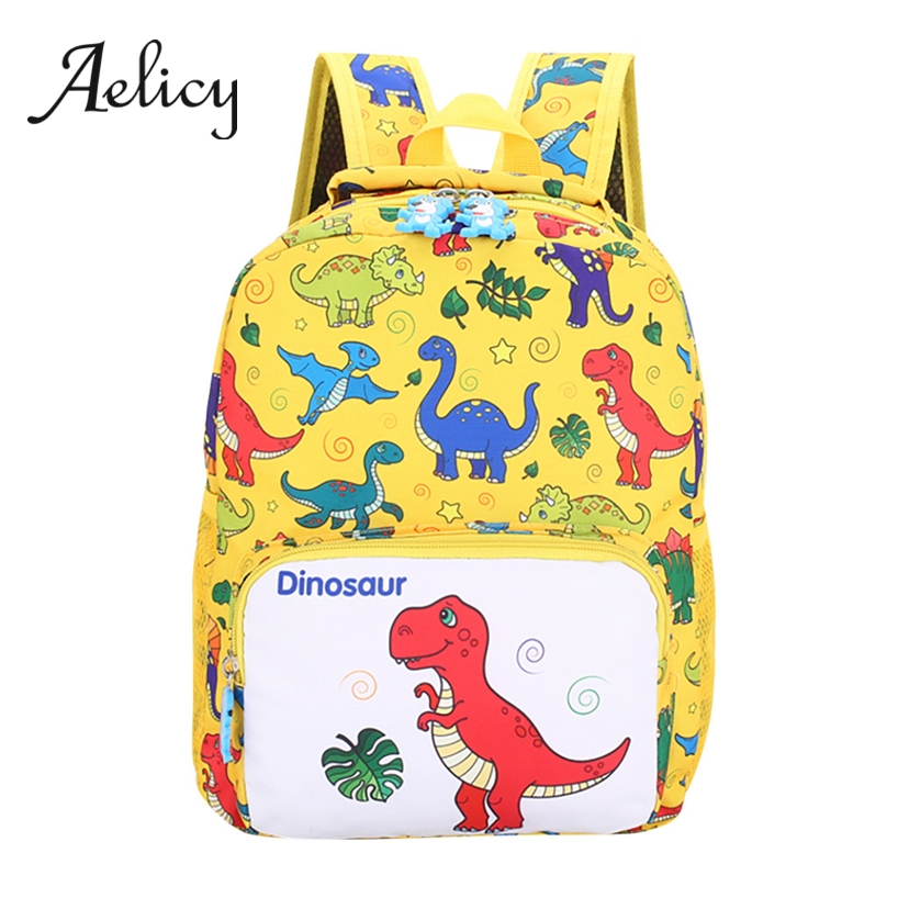 Aelicy Cartoon Dinosaur Printing Kid's Backpacks Canvas School Bags For Teenage Girls Boys Mochila Feminina Bolsas