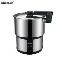 Kbxstart 100V 240V Multifunction Electric Rice Cooker Pot Machine Portable Stainless Steel Split Pot For Travel Outdoor 450W