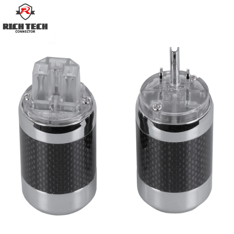 2pcs/1pair Powercon Connectors Male&Female Jack socket Carbon fiber HiFi Audio Speakon Connector AC Power Plug Socket 1pair m8 3pin locking connectors aviation plug socket male