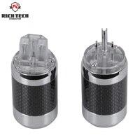 2pcs/1set Powercon Connectors Male&Female Jack socket Carbon fiber HiFi Audio Speakon Connector AC Power Plug Socket