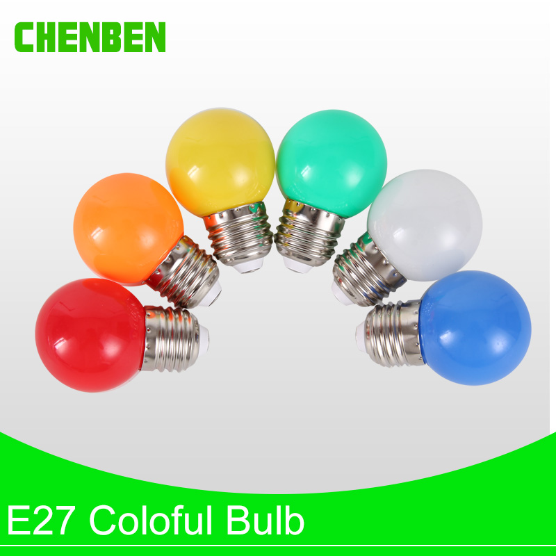 E27 3W Colorful LED Light Bulb Golf Ball Energy Saving Lamp Red 220V Bombillas Led for Home Lighting