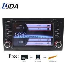 LJDA 2 din GPS Navigation For Audi A4 S4 RS4 2002 2003 2004 2005 2006 2007 2008 Car DVD Player Multimedia Bluetooth Auto Radio