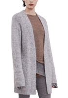High Grade Wool Mohair Blend Women S Fashion Mid Long Cardigan Sweater Coat All Matching For