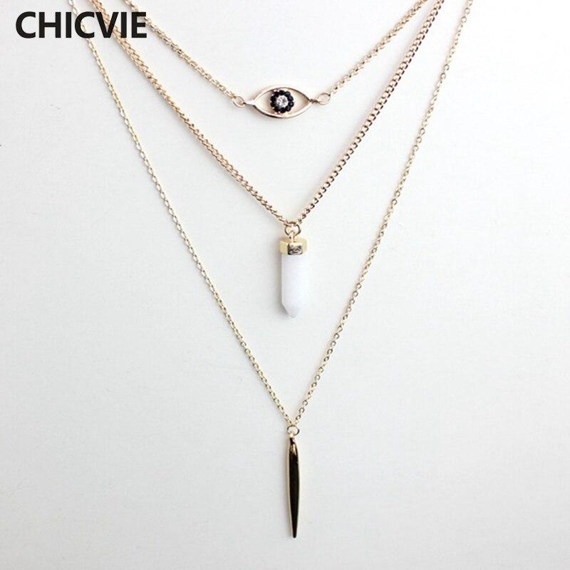 Купить chicvie яркое ожерелье с бусинами подвеска золотого цвета ожерелья