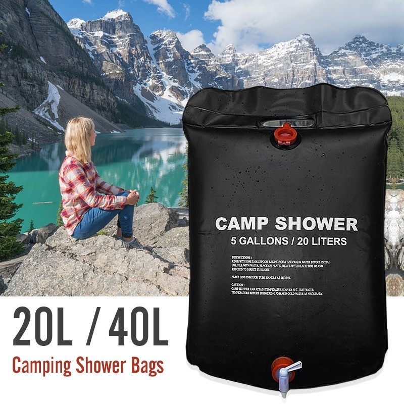New 20L Water Bag Foldable Solar Energy Heated Camp PVC Outdoor Shower Bag Family Camping Travel Hiking BBQ Picnic Water Storage