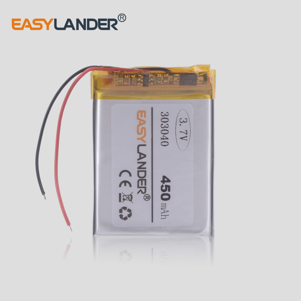 303040 033040 283040 <font><b>3.7v</b></font> <font><b>lipo</b></font> <font><b>battery</b></font> 450mah for li polymer GPS,MP3,MP4 DSO150 oscilloscope power mod Registrar DVR recorder image