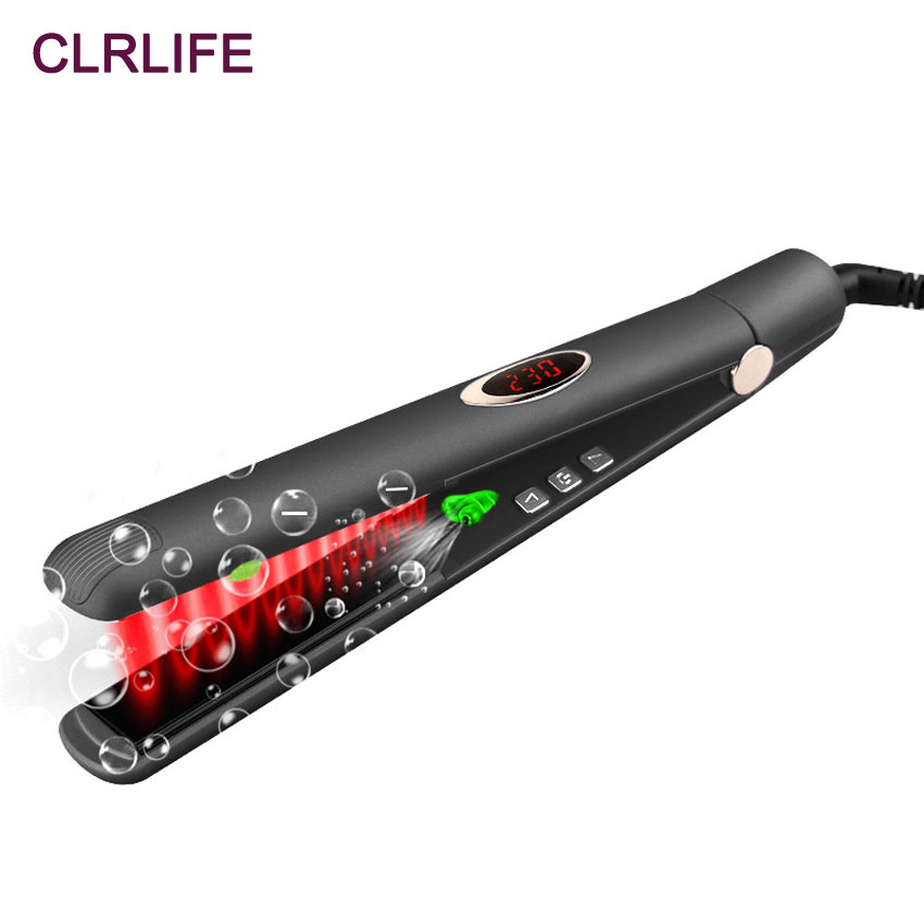 CLRLIFE Infrared Anion Ceramic Hair Straightener MCH Heating Flat Iron Ionic Hair Straightening Hair Care Tool 3D Floating Plate фен elchim 3900 healthy ionic red 03073 07
