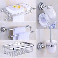 New Arrival brass Bath Hardware Set, Chrome toilet brush holder ,Paper Holder,Towel Bar,Soap basket,Towel Rack bathroom set