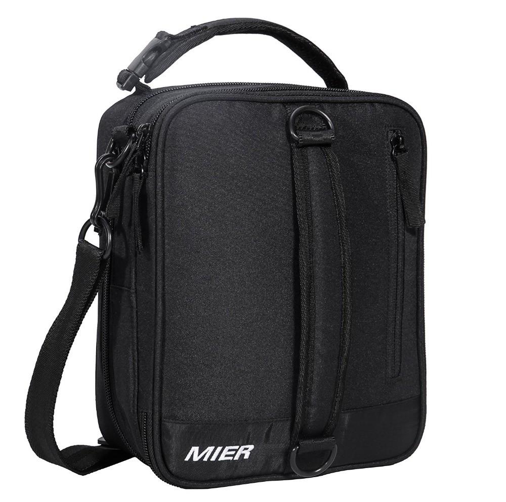 28bafd3f228c US $17.95 5% OFF|MIER Black Portable Cooler Lunch Pack for Men Women and  Kids Insulated Expandable Lunch Box Bag-in Picnic Bags from Sports & ...
