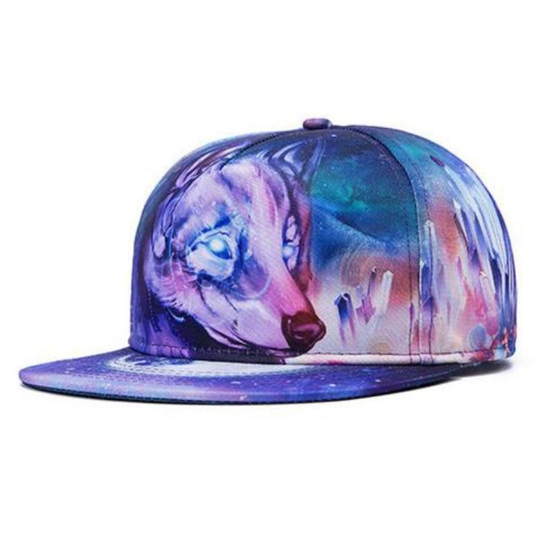 Raisevern new fashion galaxy baseball cap for women men cute animal pattern print snapback snap back hip hoppeak hats gorras