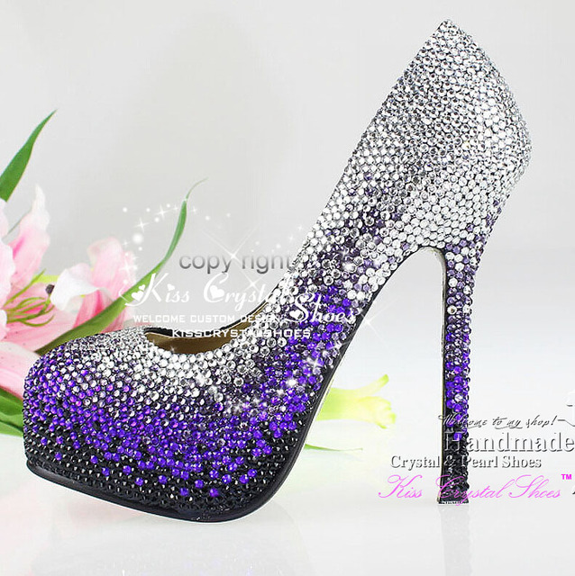 famous brand women Mixed Color Black Purple and Silver Crystals Sparkly  Wedding Shoes Designer Women Dress Shoes 60bdcee86b9e