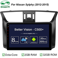 GreenYi 2GB RAM Android 6 0 Car GPS Navi DVD Player For Nissan Sylphy Sentra 2012