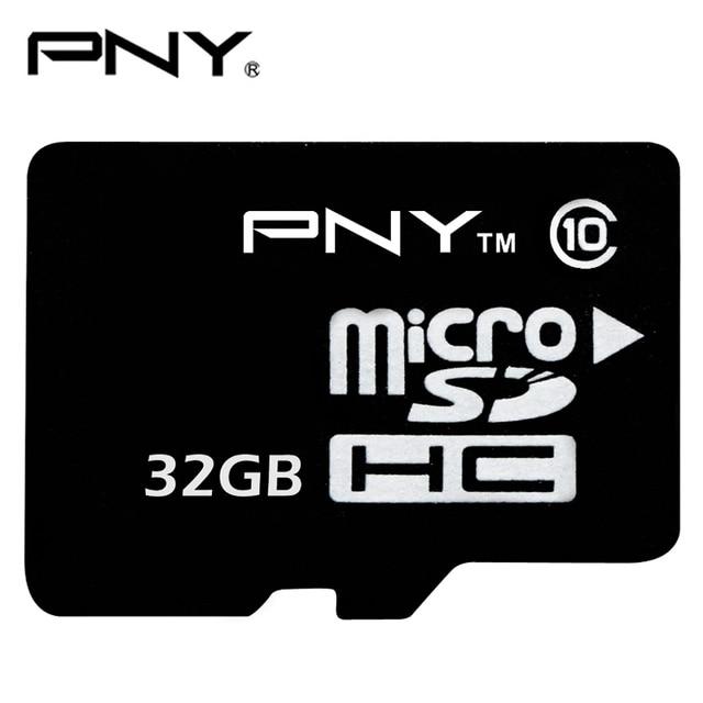 Original PNY C10 32GB Micro SD Card MicroSDHC Class 10 Memory Card Trans Flash TF Card  For Smartphone SD Card Official Genuine