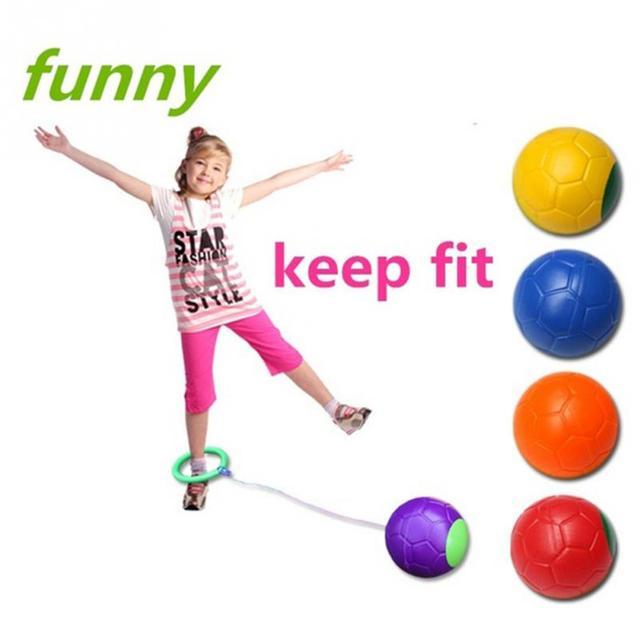 Fitness Skip Ball Outdoor Skipper Skipping Rope Jump Spining Swing Ball Foot Jump Kids Toy Jumping