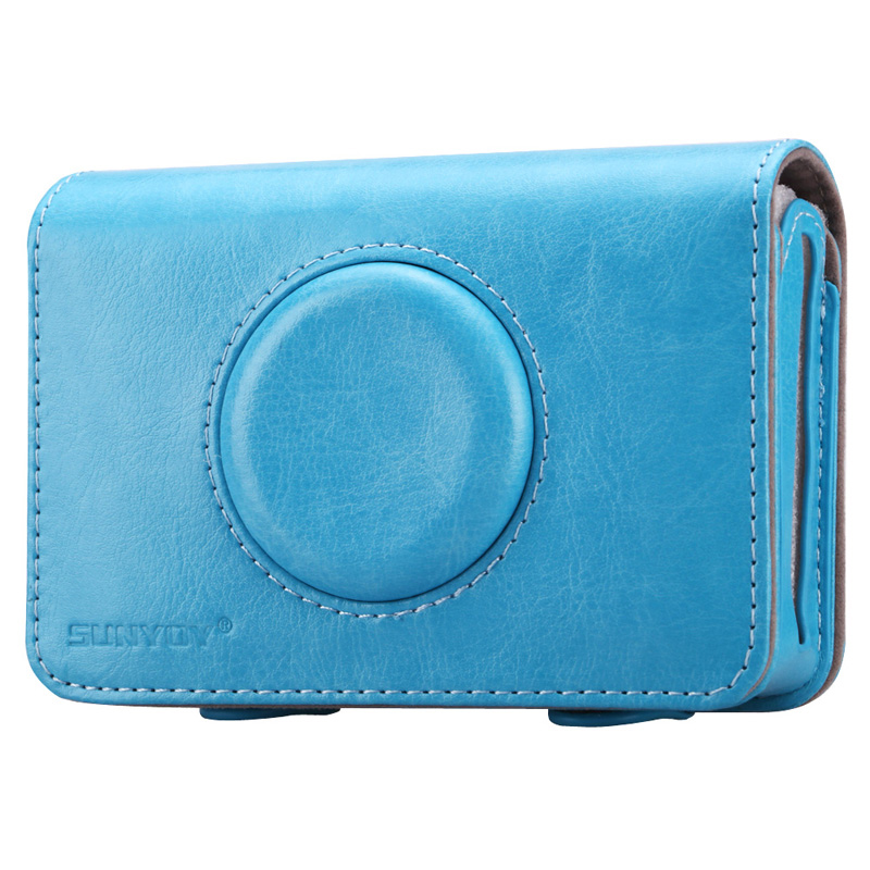 Sunyoy Vintage Blue PU Leather Case Bag for Polaroid Snap Touch Instant Print Digital Camera,Free Shipping
