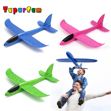 48CM DIY Hand Throw Flying Glider Planes Toy For Children Foam Aeroplane Model Party Bag Fillers Plane Toys Game